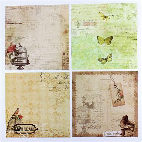 Handmade Scrapbook Paper - vintage fashion matt paper sheets handmade