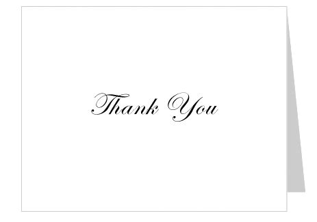 Simple Thank You Card Template by Free Thank You Card Template Celebrations Of