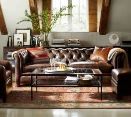 chester leather sofa chesterfield leather sofa pottery barn