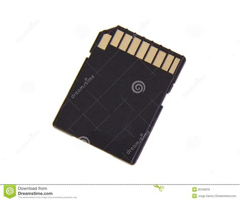Memory Card Foto sd memory card isolated on a white background stock image image 55162879