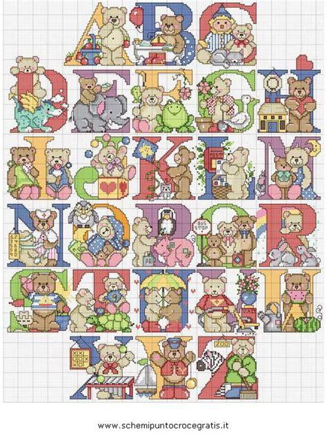punto croce lettere per bambini puntocroce alfabeto 32 schema punto croce gratuito da stare