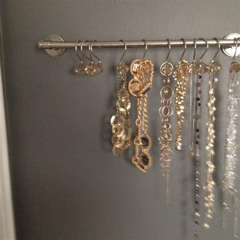 diy shower curtain hooks ideas for diy necklace hooks towel rack shower curtain