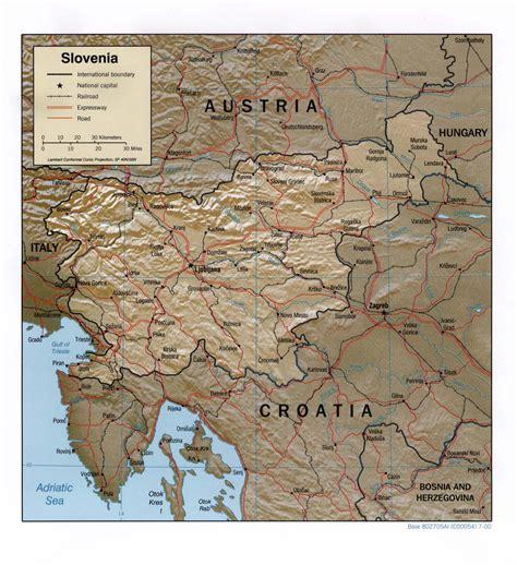 landkarte slowenien landkarten