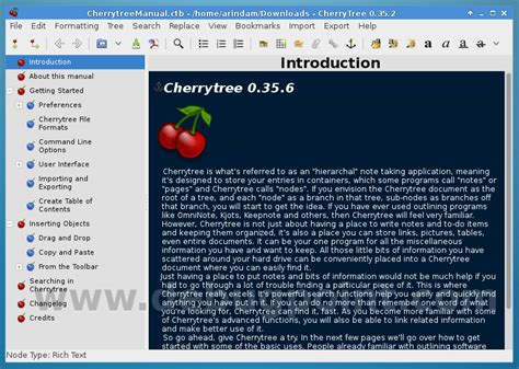cherry tree ubuntu cherrytree a powerfull hierarchical note taking application for linux
