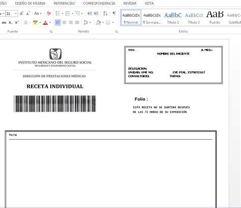 descargar receta medica del imss formato editable zonambuloz receta del imss mega mega descargas