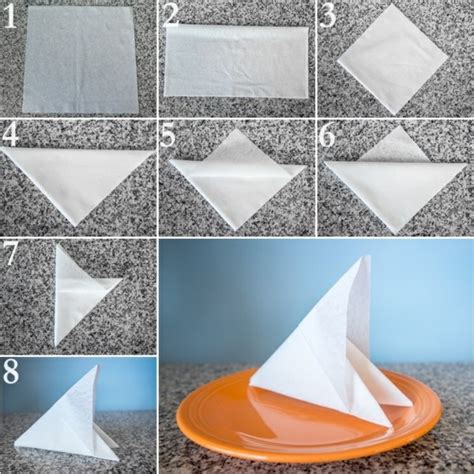 How To Fold Paper Napkins Easy - paper napkin folding festive table