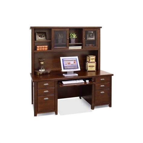 cherry wood desk with hutch kathy ireland home by martin tribeca loft 69 quot wood