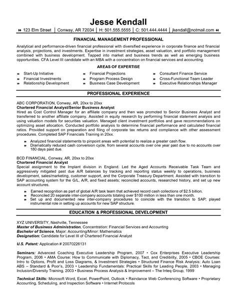 financial resume samples visualcv resume samples database