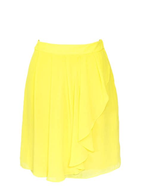 louise bright yellow high waist skirt size xs s