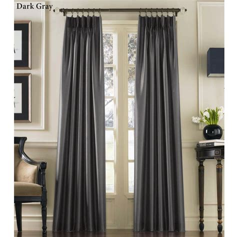 silk panel drapes marquee flared faux silk pinch pleat curtain panels