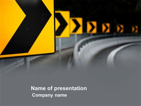 Road Reflector Powerpoint Template Backgrounds 04032 Poweredtemplate Com Road Powerpoint Template
