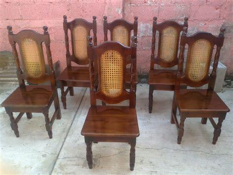 sillas de madera para comedor sillas para comedor en madera de cedro labradas y talladas