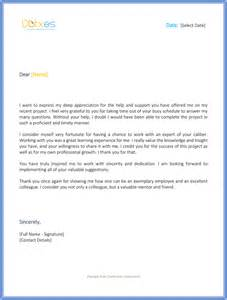 Appreciation Letter Business Support Thank You Letter To Boss For Support Thank You Letters Uva