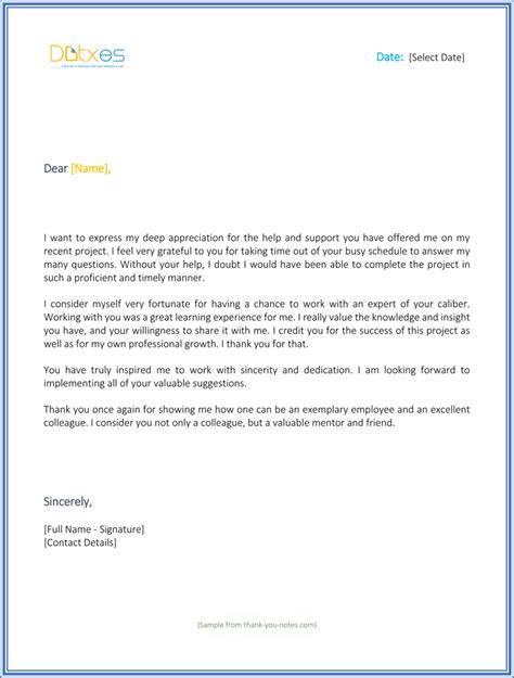thank you letter to employee 14 free word excel pdf format