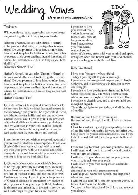 traditional and non traditional wedding vows trusper