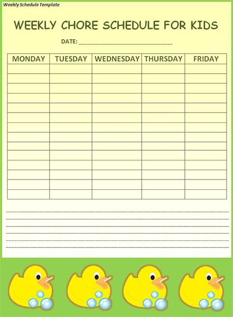 weekly schedule template 19 free word excel pdf