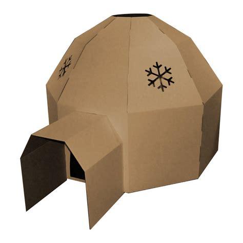 How To Make Igloo House With Paper - kid eco igloo brown by kid eco cardboard toys