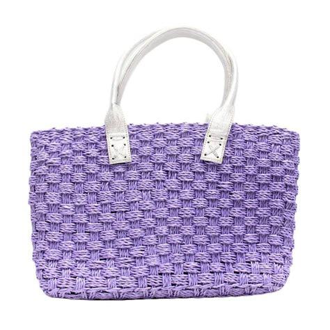 Tas Tangan Wanita Rajut Decoupage jual smesco trade rajut plastik ungu tas tangan