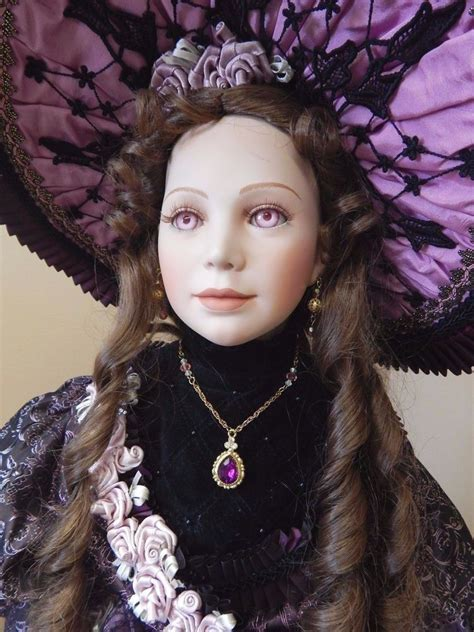 doll guild louise 32 quot porcelain doll by thelma resch