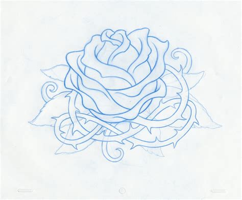 new school rose tattoo design design