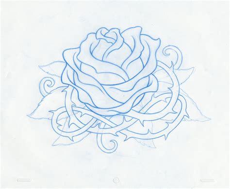 old school rose tattoo design design