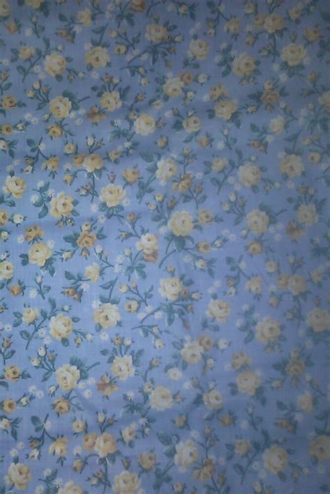 cranston fabric yards cotton quilting sewing fabric vip cranston print works blue yellow roses ebay