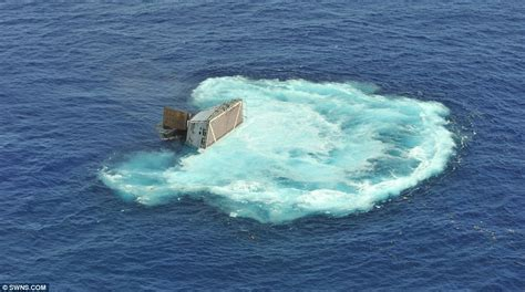 sinking wake boat condemned to a watery grave dramatic moment u s navy