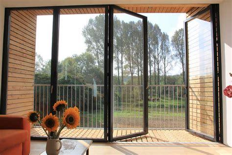 Opening For Bifold Door by Bi Door 3010 Series 1 Lite Tempered Frosted Glass
