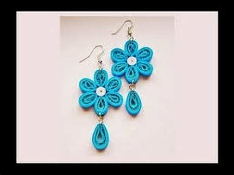 How To Make Paper Jewellery At Home - quilling paper earrings with comb earrings