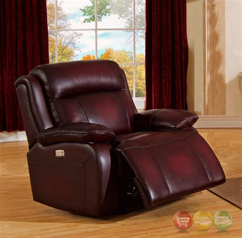 real leather sofa set faraday power recline 3pc sofa set in deep red real