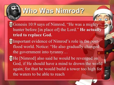 nimrod and christmas nimrod the lord of sheepletv