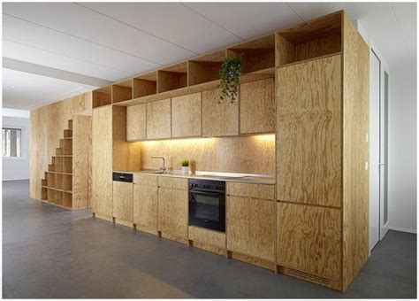 Lumber Yard Chic 7 Creative Ways To Decorate With Wood How To Make Kitchen Cabinet Doors From Plywood