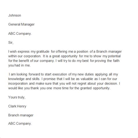 appreciation letter for an employee to manager 10 free sle appreciation letters slebusinessresume