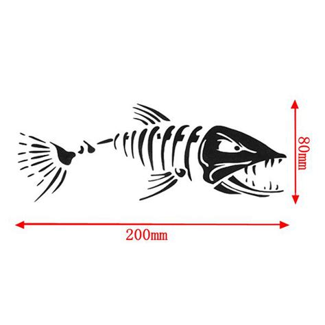 boat cover decals car boat window skeleton angry shark mad fish fishing