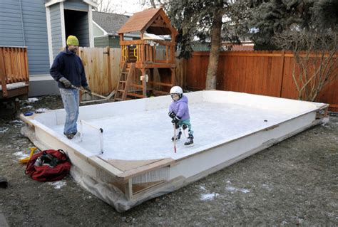 backyard hockey rink plans backyard ice homemade skating rinks pop up around