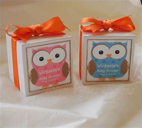 personalized baby shower owl favor box dollar tree has