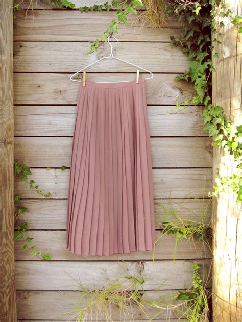 Promo Maxi Cavally Dusty Pink 0138 Sale Vintage Dusty Pink Pleated Chiffon Maxi Skirt Xs S