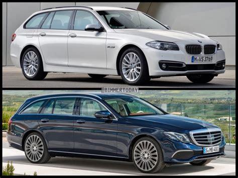 Bmw 3er Vs 5er Touring by Image Comparison Mercedes E Class Estate Vs Bmw 5