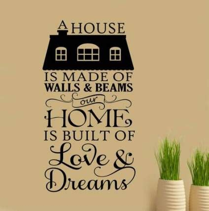ideas  home decored wall quotes house vinyl wall