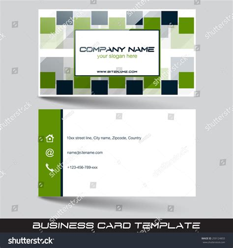 template to print a front and back card business card template front back sideeditable stock