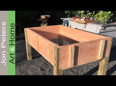 build a stand up planter box limited tools project
