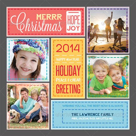 photo collage greeting card template 20 best printable card templates