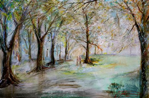 park bench painting the park bench painting by jack diamond