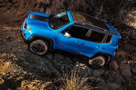 jeep trailhawk blue jeep renegade limited 2016 suv drive