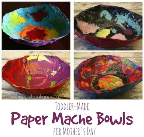 Paper Mache Crafts For Preschoolers - paper mache bowls a gift for to make and give