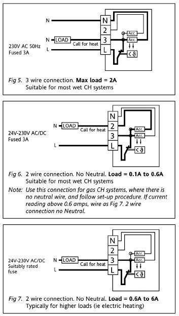 thermostat timer boiler wiring diynot forums
