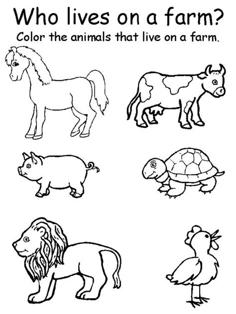 printable farm animal images preschool printable farm worksheets animal matching