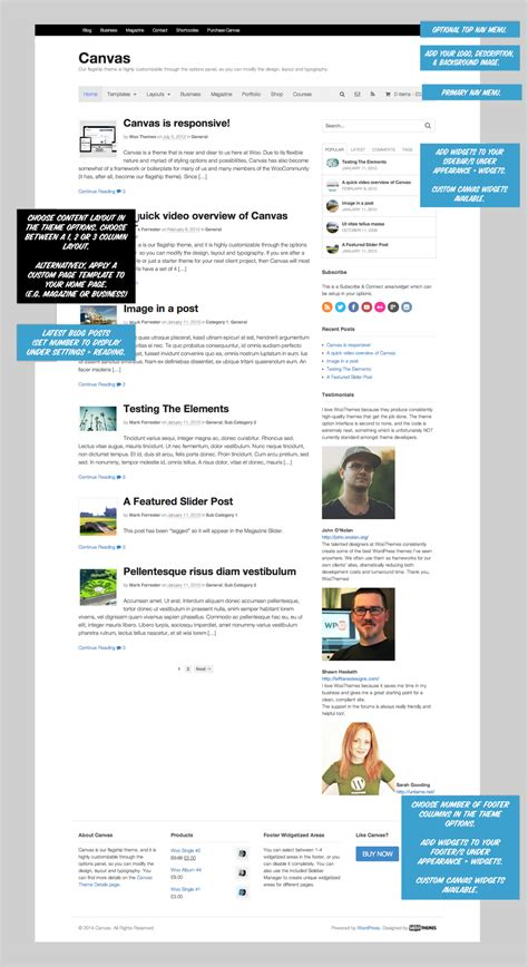 woothemes templates 187 woothemes canvas tips tips and tricks