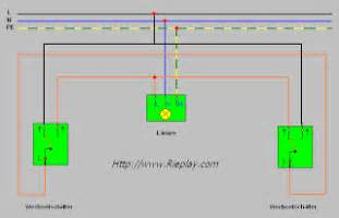 wechselschaltung mit 2 schaltern und 1 le elektrotechnik a z die sparwechselschaltung