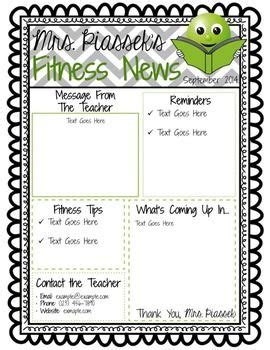 classroom weekly newsletter template classroom newsletter template editable freebie 3rd grade